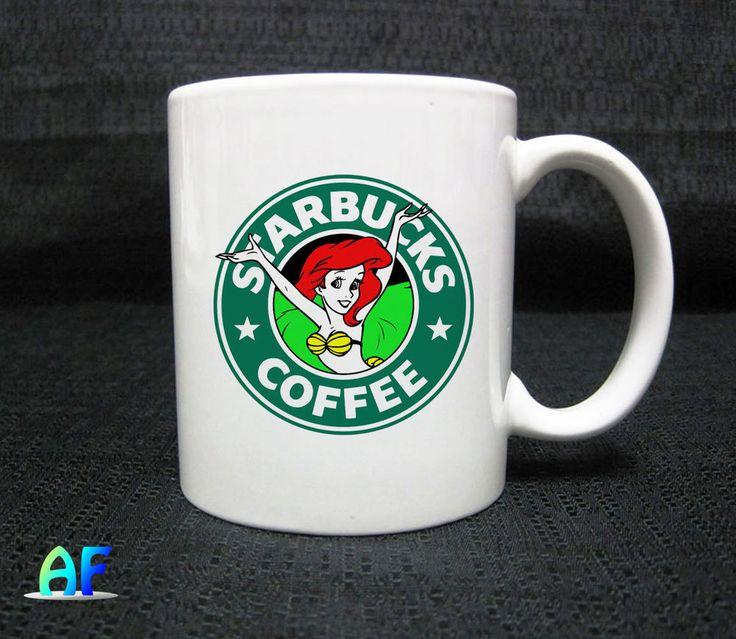 Ariel Mermaid Star Coffee Mug - Coffee Mug 11oz Ceramic  #Handmade