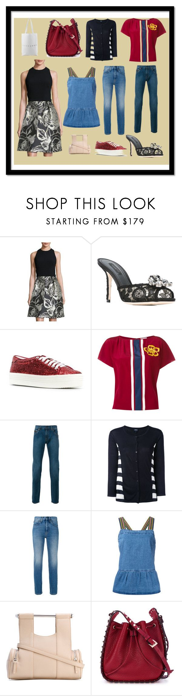 """Fancy Sale"" by cate-jennifer ❤ liked on Polyvore featuring Theia, Dolce&Gabbana, Yves Saint Laurent, RED Valentino, Salvatore Ferragamo, Armani Jeans, Ports 1961, M.i.h Jeans, Corto Moltedo and Valentino"