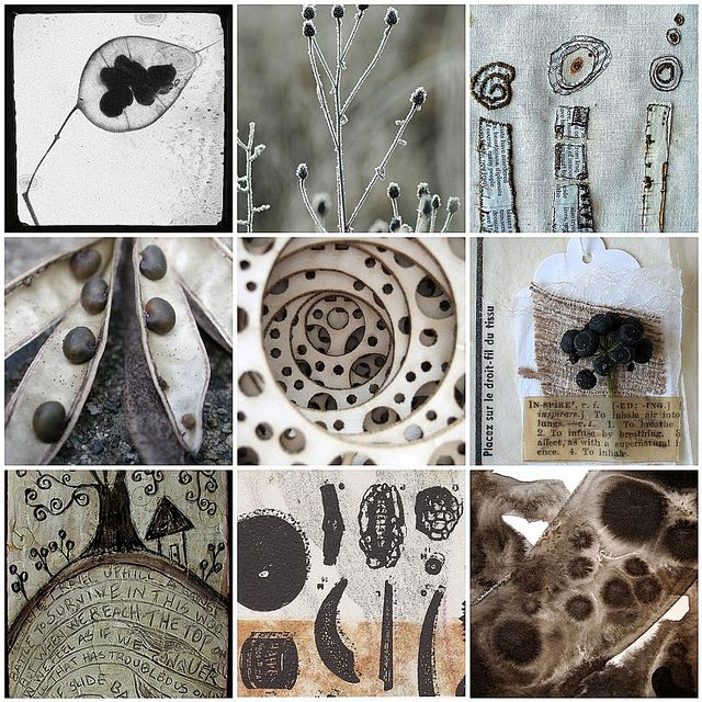 Seed pod inspired art ~ love that center image .......