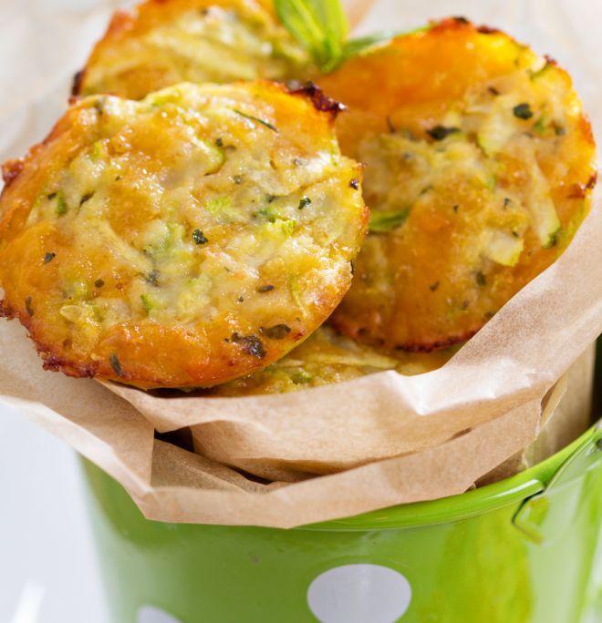 Frittelle di zucchine al forno per la merenda a scuola