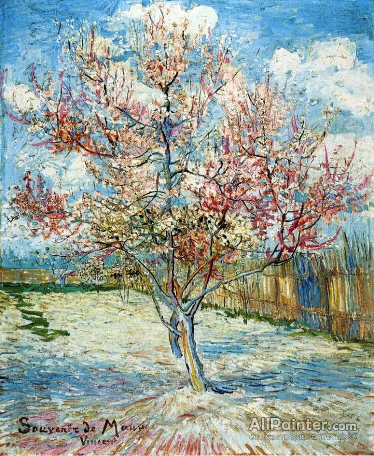 Vincent Van Gogh Peach Trees In Blossom oil painting reproductions for sale