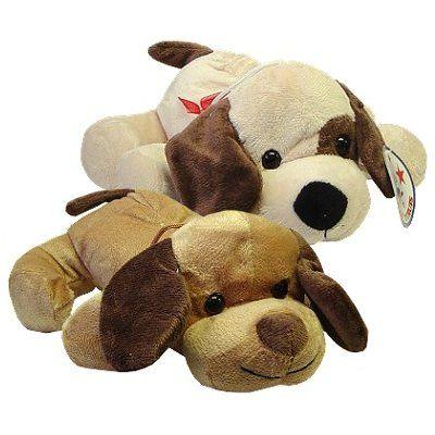 Pluche hond liggend 25 cm