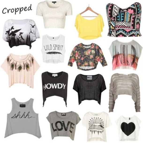 Cute half shirts