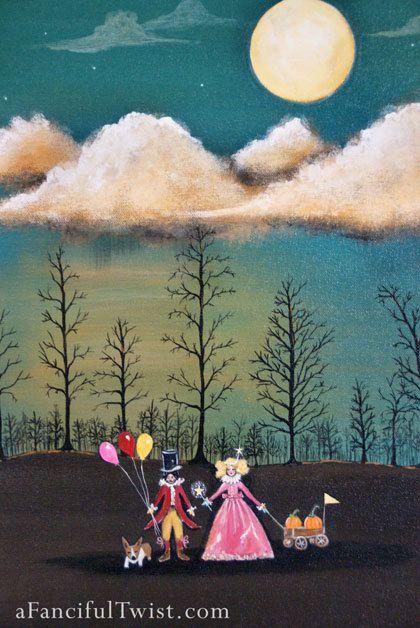 Original Painting - Magical Night, Through the Trees. $425.00, via Etsy.