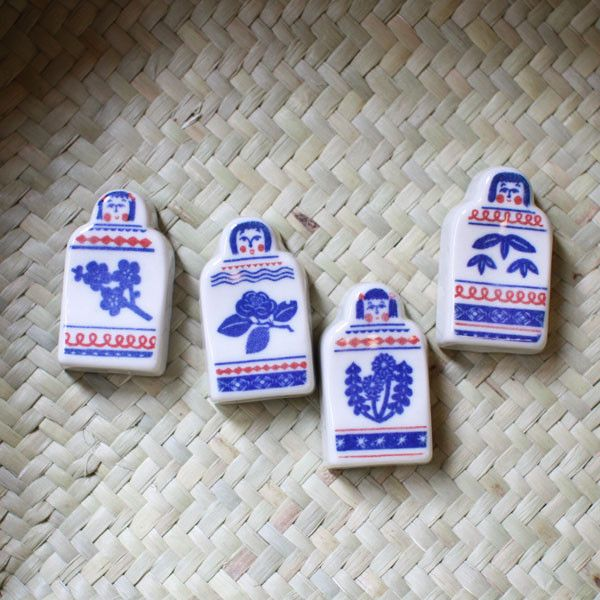 KATA KATA Inbante Ceramic Kokeshi Chopstick Rests   UGUiSU Online Store