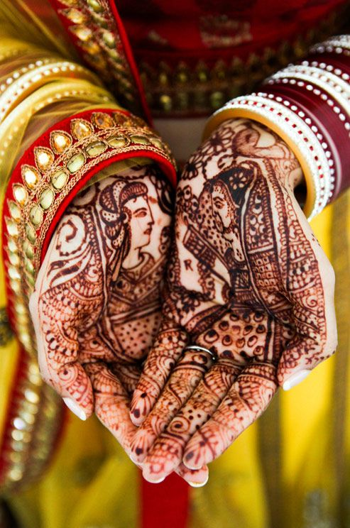 Multicultural Wedding, Indian Wedding,Donna Newman Photography    Colin Cowie Weddings. Every Indian bride waits for her hands to be colored to the darkest hue of brown on her wedding day..♥ the more the darker your hands color, it is believed that more your to be husband loves you. Pretty mehendi design on hands. :)
