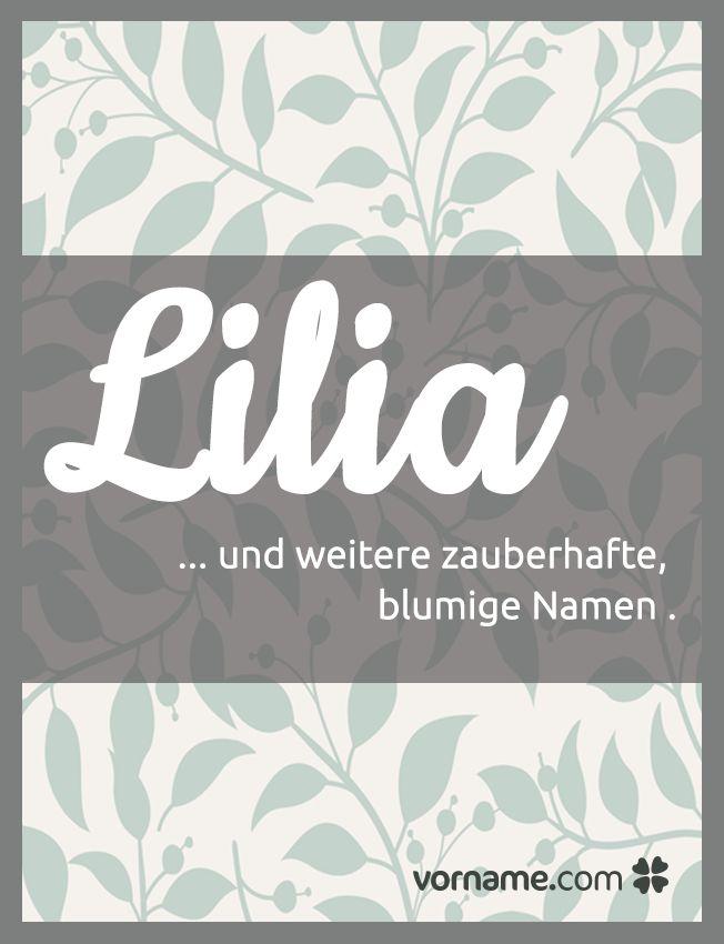 """Lilia ist nur einer von vielen tollen Mädchennamane, die die Bedeutung """"Blume"""" haben. Finde Deinen Favorit in unserer Liste!"""
