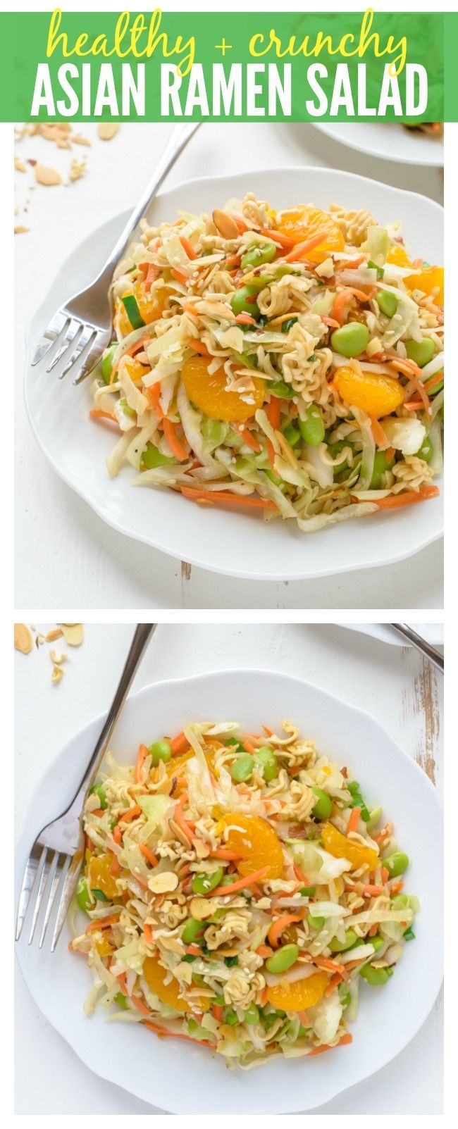 A healthy version of the classic Crunchy Asian Ramen Salad that's as good as the original but made from better ingredients!
