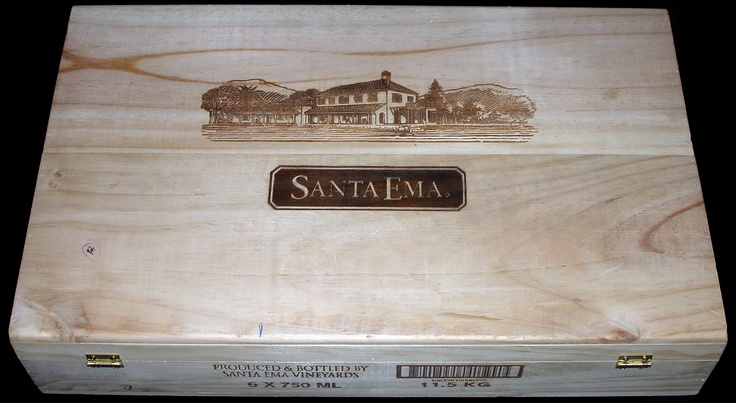 Santa Ema 6 Bottle Flip-top Wooden Wine Case