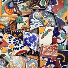OMG, how great is this - a place to buy beautiful ceramic tiles for mosaic making super cheaply by the pound!