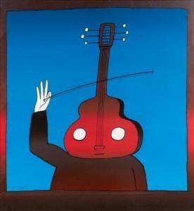 Jean-Michel Folon - Le Violoncelliste