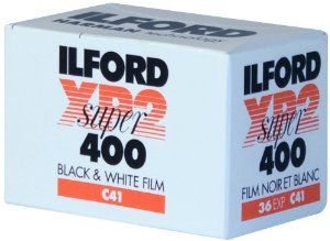 Ilford XP-2 Super 400 135-36 Black & White Film by Ilford. $5.95. XP2 SUPER is a sharp, fast, fine grain black and white film. It can be used for any photographic subject, but ensures excellent results when there is a wide subject brightness range. The film yields high contrast negatives and has an extremely wide exposure latitude making it suitable for use in varied lighting conditions. XP2 SUPER is easy to process. It is a black and white film which is processed in C41 type p...