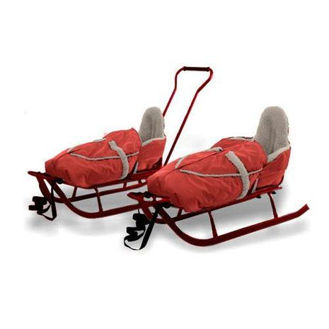 Vehicule pentru copii :: Saniute copii :: Saniute bebelusi :: Saniuta Piccolino cu Saculet Rosu Adbor