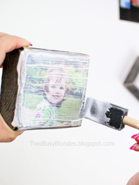 TWO BLONDES Enthusiastically Creating and Crafting EVERYTHING!: PHOTO BLOCKS!! Fun, creative way to display photos
