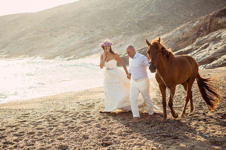 Dream your Wedding in Mykonos  www.mykonos-weddings.com Horses