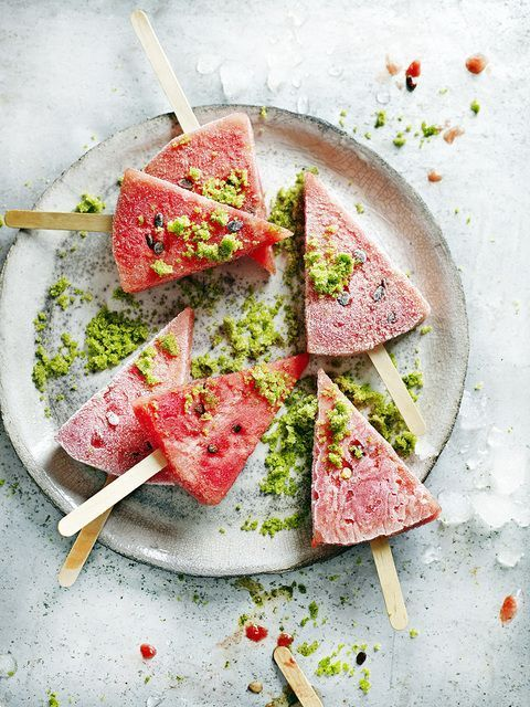frozen watermelon with lime sugar