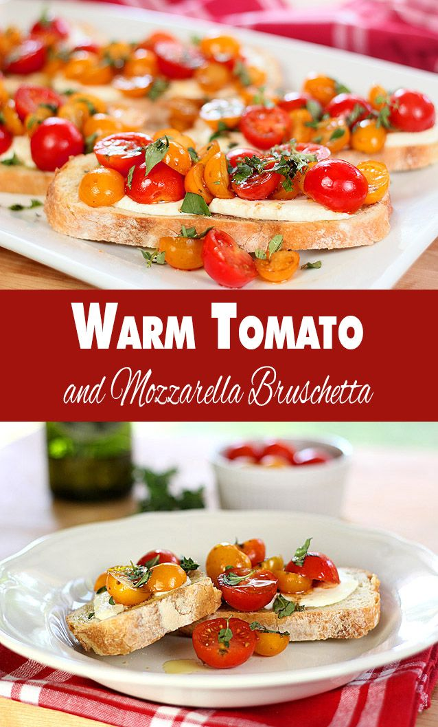 Warm Tomato and Mozzarella Bruschetta | @CreativCulinary
