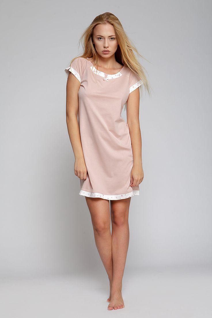 Dámská noční košile #bavlna #nightgown #chemise