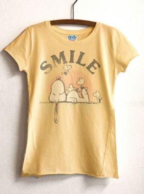 Kids Girls Smile Heather Asymmetrical tee  $32  www.junkfoodclothing.com  #snoopy  #peanuts  #woodstock