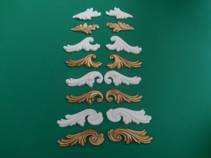 Decorative Resin Moulding Rococo Curls   Acanthus Leaves plain or gold  colour. 13 best eBay Listings of Shabby Chic Mouldings   Appliques images