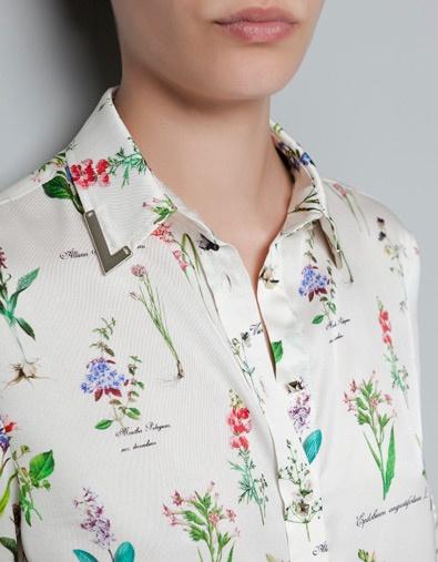 PRINTED CHIFFON BLOUSE - Shirts - Woman - ZARA