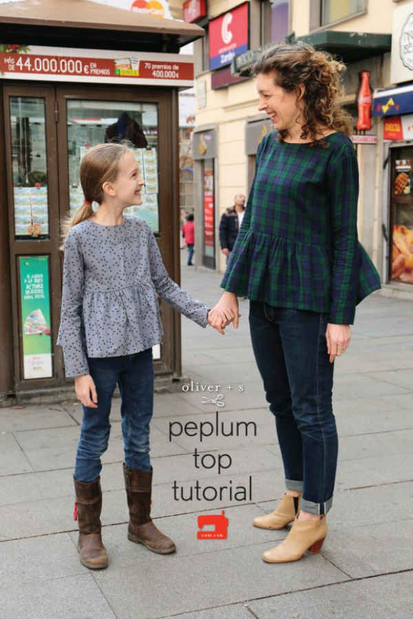 DIY : des top peplums pour filles et femmes