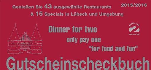 Lübeck - Gutscheinscheckbuch Dinner for Two für Lübeck und Umgebung