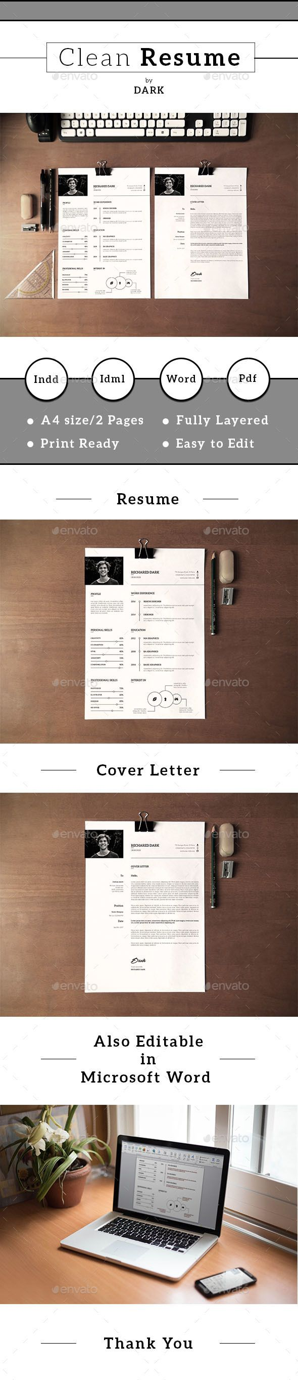 Resume Template u0026 Cover Letter by Template