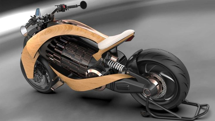 Electrical Motorbike with Wood Physique by Newron