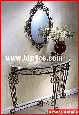 Half Moon Console Table And Mirror