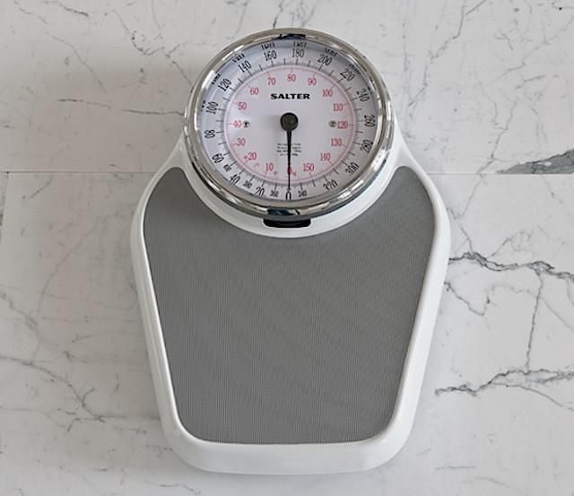 Keep your New Year's resolution with the help of a traditional bathroom scale designed by UK company Salter, the oldest manufacturer of fine scales. Made o