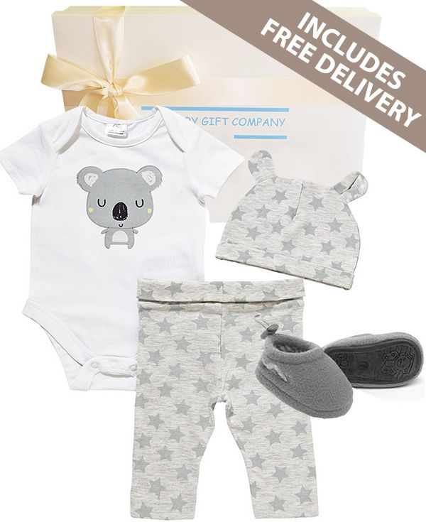 Koala Baby Gift Box FREE DELIVERY - A lovely gender neutral gift basket to welcome the arrival of a little Aussie. SOLD OUT
