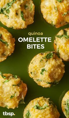Hearty spinach, cheese and egg white quinoa bites to get your morning protein fix. A great way to start the day! These bites are made with cooked quinoa, spinach (another super food), cheese, and garlic. Super easy and even more delicious.