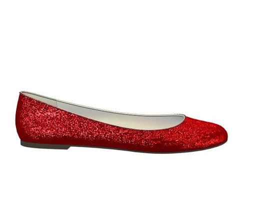 b5fc76fcaf81 Sparkly red glitter glitter ballet flats