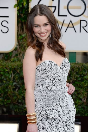 Emilia Clarke Style Inspiration Golden Globes 2014