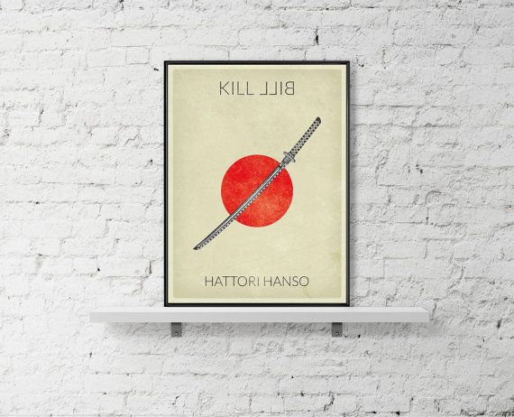 KILL BILL Movie Poster Hattori Hansso Poster Uma by BaydleCreative
