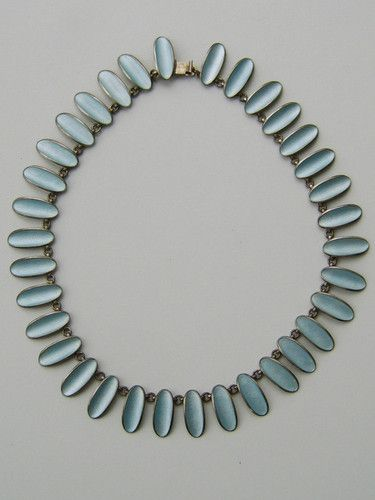 Einar Modahl Norway Silver & Enamel Necklace