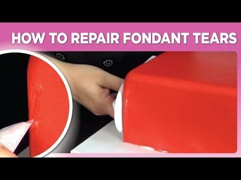 how to fix dry fondant on cake