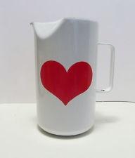 Finel Enamelware Heart Pitcher Arabia