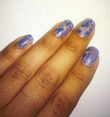 ¿Cómo te pintaste?: Día 6: Uñas Violetas #nails #uñas #comotepintaste #nail art #reto31dias #31daychallenge #crackle