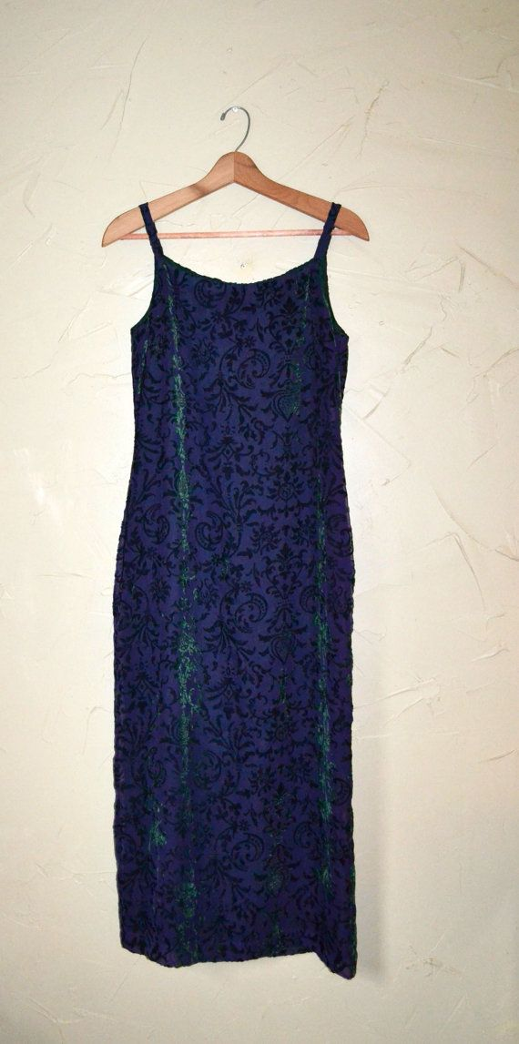Velour Dress Velvet Dress Purple Dress Maxi by founditinatlanta
