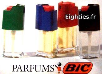 Parfums BIC 1988 - qui sentait plus le parfum pour voiture qu'autre chose!!