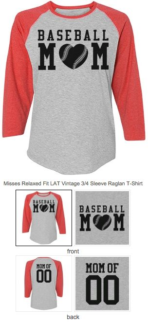 Sports Mom shirts! Know a baseball mom who would like a custom baseball jersey to wear to all the baseball games this spring and summer? You can even put a name and number on the back to make it really special. Great idea for a Mother's Day gift. HOMERUN! #baseballmom #mothersdaygifts