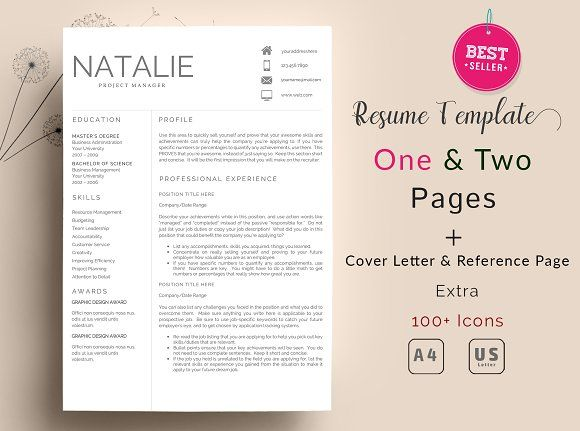 Resume Template 2 Pages  @creativework247
