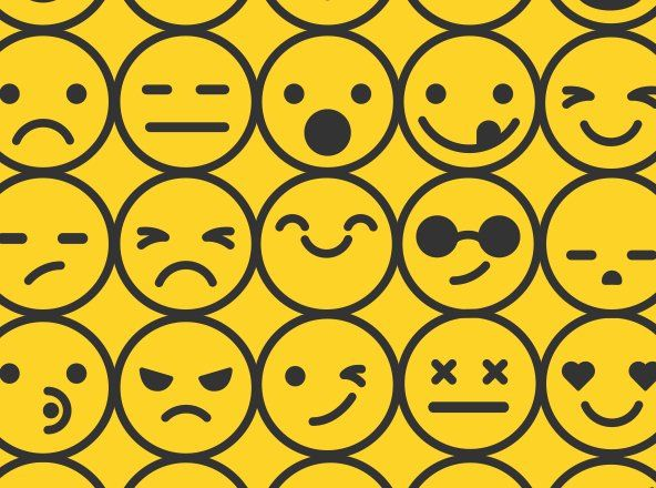 Free set of vector emoticon icons for popular face expressions like smiles…