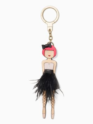 forget them not: after one too many long, locked out days, we asked our designers to dream up a collection of playful keychains, inspired by the things we love most, that are simply too pretty to leave behind. this leather ballerina should help put an end to the stoopside scramble. (alternatively, attach her charm-style to your handbag!)
