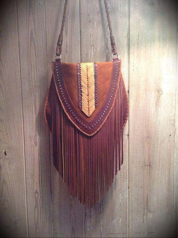 Brown Venus Fringe Crossbody Bag by nativerainbow on Etsy