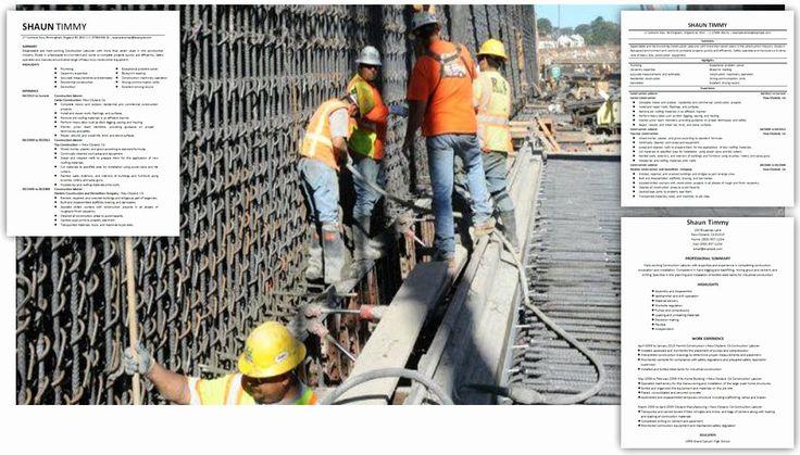 23 General Laborer Resume Job Description in 2020 Office