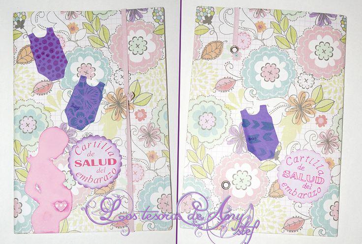 Con un bonito papel de flores en tonos pastel y unos troquelados, he decorado esta cartilla de embarazo #cartilla #alterada #decorada #tuneo #diy http://lostesorosdeanystef.blogspot.com.es/2015/11/cartilla-de-embarazo-decorada.html: