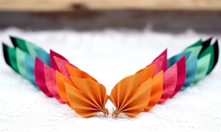 Earrings made from recycled fabrics